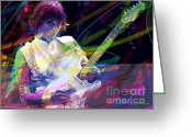 Fender Stratocaster Greeting Cards - Jeff Beck Bolero Greeting Card by David Lloyd Glover