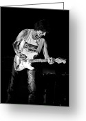 Live Music Greeting Cards - Jeff Beck on Guitar 3 Greeting Card by The  Vault