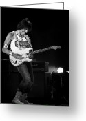 Celebrities Greeting Cards - Jeff Beck on Guitar 6 Greeting Card by The  Vault