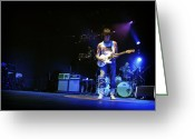 Celebrities Greeting Cards - Jeff Beck on Guitar 7 Greeting Card by The  Vault