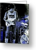 Celebrities Photo Greeting Cards - Jeff Beck on Guitar 8 Greeting Card by The  Vault