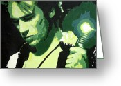 Jeff Buckley Greeting Cards - Jeff Buckley Greeting Card by Sara Bokhari