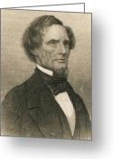 Presidency Greeting Cards - Jefferson Davis, President Greeting Card by Photo Researchers
