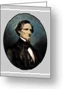 Pride Painting Greeting Cards - Jefferson Davis Greeting Card by War Is Hell Store