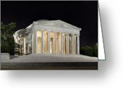 Empty Greeting Cards - Jefferson Memorial Greeting Card by Metro DC Photography