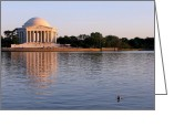 Commemorative Greeting Cards - Jefferson Memorial Greeting Card by Olivier Le Queinec