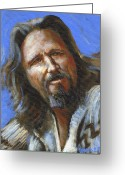 Academy Award Greeting Cards - Jeffrey Lebowski - The Dude Greeting Card by Buffalo Bonker
