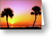 Thomas R. Fletcher Greeting Cards - Jekyll Island Sunrise Greeting Card by Thomas R Fletcher
