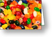 Willy Wonka Greeting Cards - Jelly Belly - Painterly Greeting Card by Wingsdomain Art and Photography