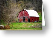 "\\\\\\\""boone County Photo Greeting Cards - Jemerson Creek Barn Greeting Card by Cricket Hackmann"