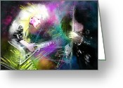 Michael Jackson Greeting Cards - Jennifer Batten Greeting Card by Miki De Goodaboom