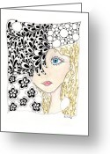 Paula Dickerhoff Greeting Cards - Jennifer Greeting Card by Paula Dickerhoff