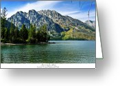 Yellowstone Landscape Art Greeting Cards - Jenny Lake Greeting Card by Greg Norrell