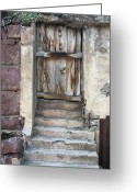 Old Doors Greeting Cards - Jerome Door Greeting Card by Ellen Henneke