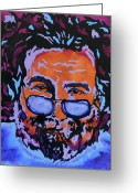 Music Legends Greeting Cards - Jerry Garcia-Its A Me Thing Greeting Card by Bill Manson
