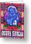 Ringo Starr Greeting Cards - Jerry Garcia Greeting Card by John Goldacker