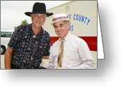 Black Tie Greeting Cards - Jerry Jeff Walker and S. David Freeman Greeting Card by Marilyn Hunt
