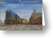 Central Jersey Greeting Cards - Jersey Central Lines Greeting Card by Christopher Jenkins