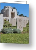 Star Of David Greeting Cards - Jerusalem British war cemetery Greeting Card by Noam Armonn