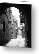 Fifth Greeting Cards - Jerusalem: Winter Greeting Card by Granger