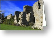12th Century Greeting Cards - Jervaulx Abbey ruins in the Yorkshire Dales Greeting Card by Louise Heusinkveld
