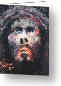 Forceful Greeting Cards - Jesus 002 Greeting Card by Brian Carlton
