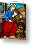 Diane Berry Digital Art Greeting Cards - Jesus and John Greeting Card by Diane E Berry