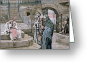 Comforting Greeting Cards - Jesus and the Little Child Greeting Card by Tissot