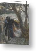 Tissot Greeting Cards - Jesus Appears to Mary Magdalene Greeting Card by Tissot