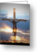 Good Friday Digital Art Greeting Cards - Jesus Greeting Card by Bill Cannon