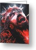 Forceful Greeting Cards - Jesus Greeting Card by Brian Carlton
