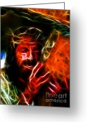 Good Friday Digital Art Greeting Cards - Jesus Carrying The Cross No2 Greeting Card by Pamela Johnson