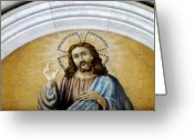 Rabbi Greeting Cards - Jesus Christ Greeting Card by Mindy Newman