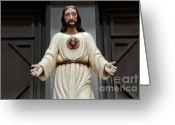 Spaniards Greeting Cards - Jesus Figure Greeting Card by Bob Christopher