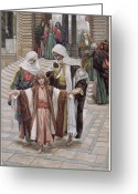James Jacques Joseph Greeting Cards - Jesus Found in the Temple Greeting Card by Tissot