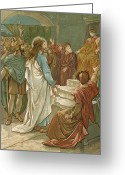 Trial Greeting Cards - Jesus in front of Pilate Greeting Card by John Lawson