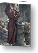 Chained Greeting Cards - Jesus in Prison Greeting Card by Tissot