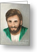 Precious Painting Greeting Cards - Jesus Greeting Card by Kent Gordon