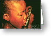 Musicians Pastels Greeting Cards - Jesus Melodies Greeting Card by Curtis James