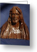 Inspirational Sculpture Greeting Cards - Jesus of Nazareth Greeting Card by Rick Ahlvers