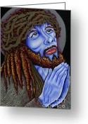 Nannette Harris Greeting Cards - Jesus Peace Greeting Card by Nannette Harris