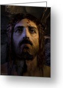 Resurrected Greeting Cards - Jesus Resurrected Greeting Card by Ray Downing