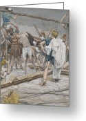 Tissot Greeting Cards - Jesus Stripped of His Clothing Greeting Card by Tissot