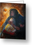 Jesus Art Painting Greeting Cards - Jesus Wept Greeting Card by Daniel Bonnell