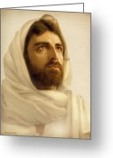 Bible Digital Art Greeting Cards - Jesus Wept Greeting Card by Ray Downing