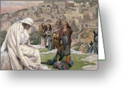 Seated Greeting Cards - Jesus Wept Greeting Card by Tissot