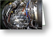 Maintenance Greeting Cards - Jet Engine Greeting Card by Ricky Barnard