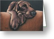Dog Prints Pastels Greeting Cards - Jethro Greeting Card by Cynthia House