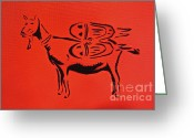 Tom Evans Greeting Cards - Jetpack Goat Greeting Card by Tom Evans