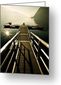 Back-light Greeting Cards - Jetty Greeting Card by Joana Kruse